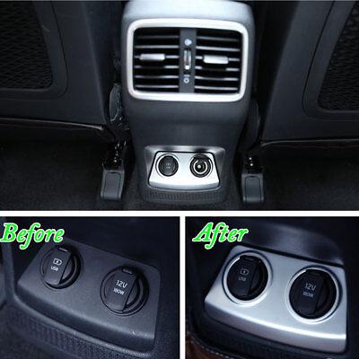 2x Chrome Air Vent Trim Cover Dashboard Bezel Garnish For Hyundai Tucson 16-18