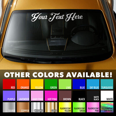 "CUSTOM WINDSHIELD TEXT LETTERING  5/"" x 42/"" VINYL DECAL STICKER CAR TRUCK"
