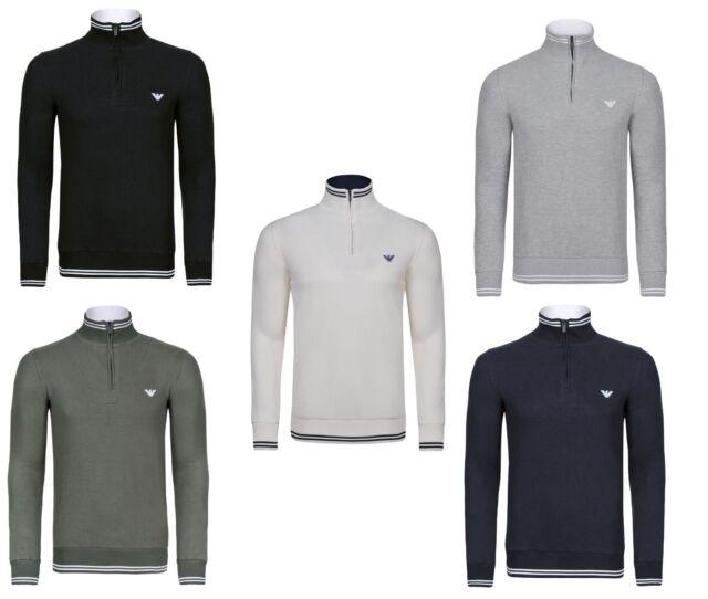 Armani Pullover zipper in 5 vers. Farben Navy,grau & Schwarz NEU OVP mit Etikett