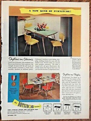 Daystrom Furniture Ad 1950 Original Vintage Retro Home Decor Art 1950s Print Ebay