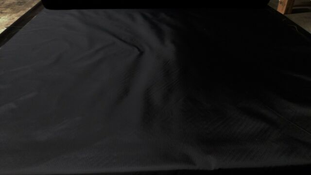 """SPECIAL LISTING BLACK 1.9 oz. NYLON RIPSTOP FABRIC 60""""W TENT MILITARY COATED DWR"""