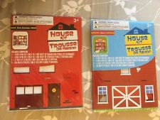 New House Kit Fire Station & Barn Kit Boy's Girl's Ages 3 and Up