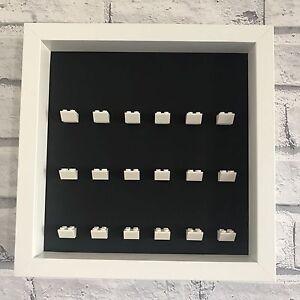 LEGO-Mini-Figures-Black-Display-Case-Frame-White-Brick-Series-17-16-15-14-13-12