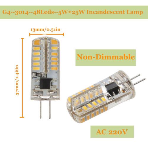 G4 G9 LED Bulb AC DC 12V 220V Dimmable 3014 2835 COB SMD Replace Halogen Lamp