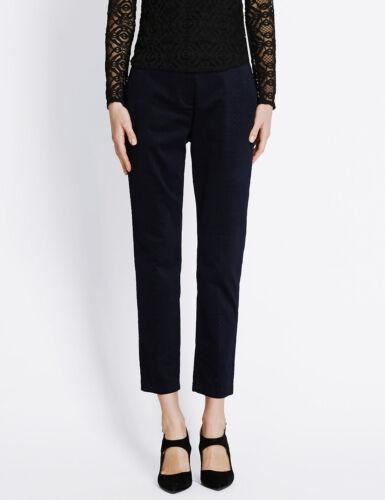 Ex M/&S Women/'s Ankle Grazer Trousers Jacquard Stretch Mark Spencer Per Una Size