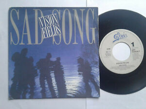 "Vision Fields / Sad Song 7"" Vinyl Single 1989 mit Schutzhülle"