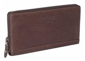 The Chesterfield Brand Nova Zip Around Wallet Portefeuille Brown Marron Nouveau-afficher Le Titre D'origine Design Moderne