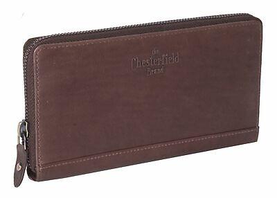 Original The Chesterfield Brand Nova Zip Around Wallet Geldbörse Brown Braun Neu GläNzend
