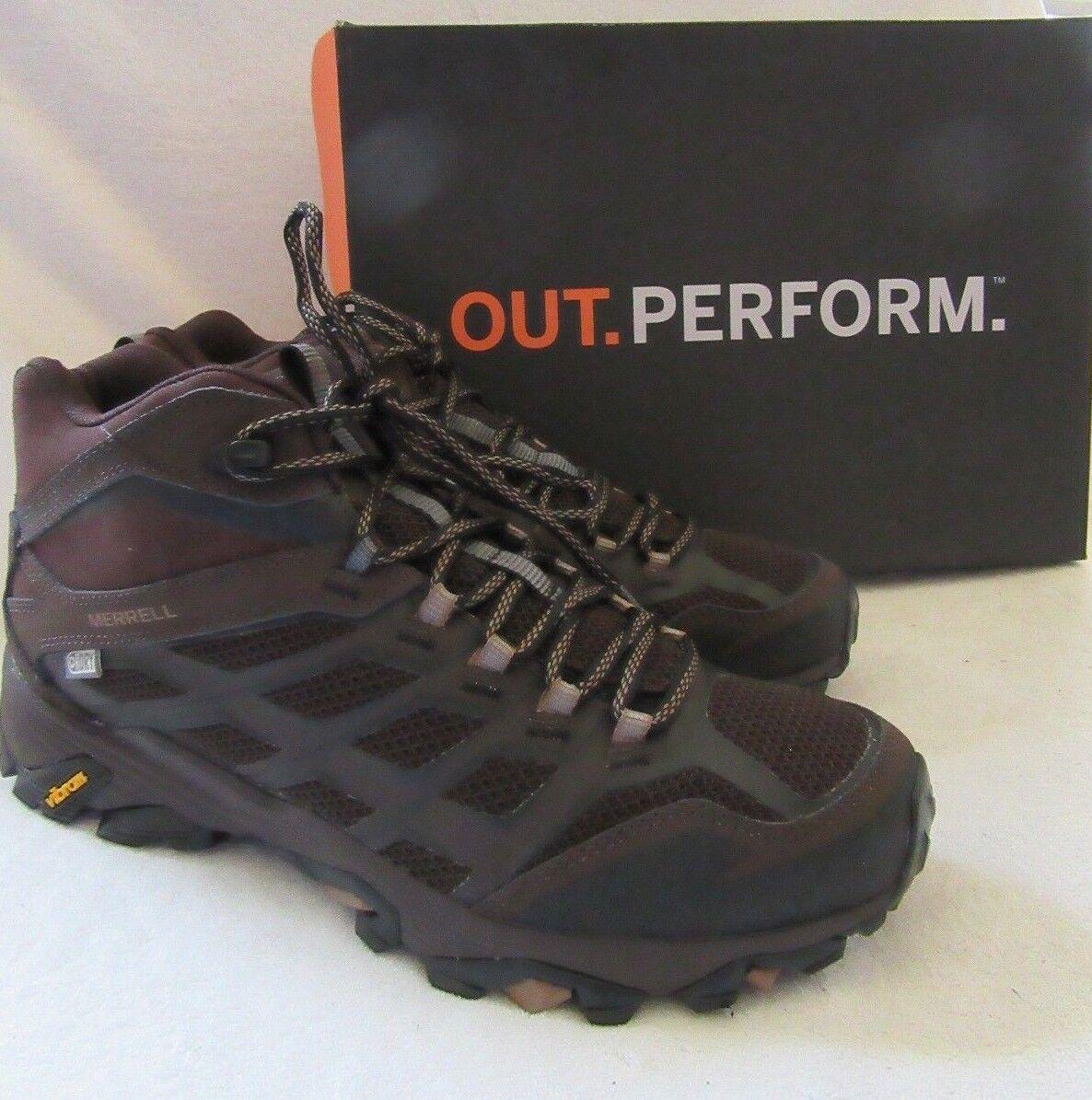 Merrell Moab FST Dark Earth Mid Impermeable botas Zapatos EE. UU. 9.5 M Nuevas Con Caja