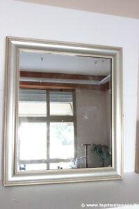 Grande specchiera d 39 epoca con cornice color argento cm for Specchio cornice argento