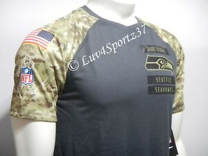 SEAHAWKS Nike Dri Fit Salute To Service Troop Military Gray Camo ... 14ce354bb