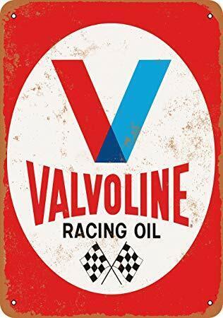 MAN CAVE VALVOLINE RACING OIL METAL SIGN QUALITY HOME DECOR AMERICANA