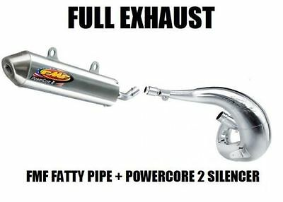 FULL FMF FATTY PIPE EXHAUST + POWERCORE 2 SILENCER 88-06 YAMAHA BLASTER 200