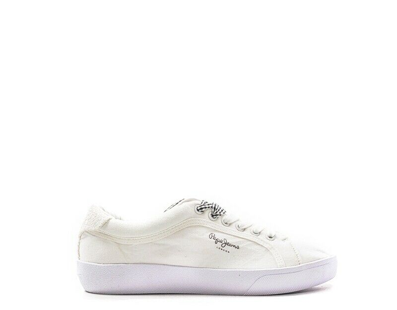 Pepe jeans shoes women sneakers Trendy White Glitter, Fabric pls30634-800