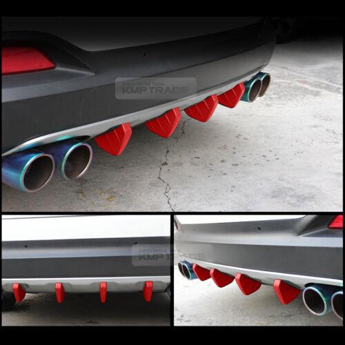 Bumper Diffuser Molding Aero Parts Lip Fin Body Spoiler Chin Red for SCION Car
