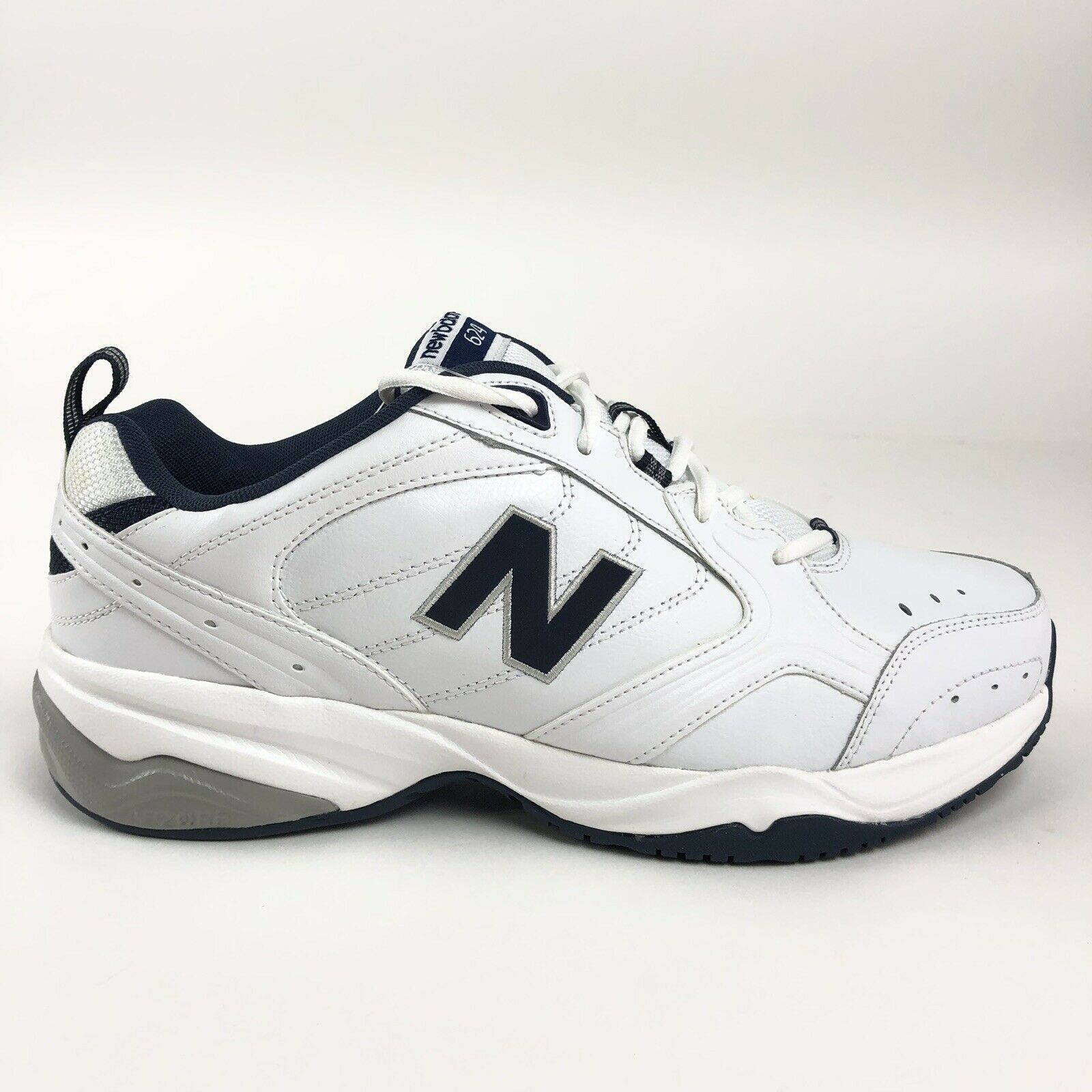 New Balance Mens 624 blanco Training zapatos Talla 8.5 2E Wide MX624WN2