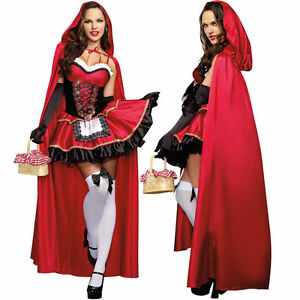 Little-Red-Riding-Hood-Halloween-Costume-Fancy-Dress-Long-Cape-Carnival-Outfit