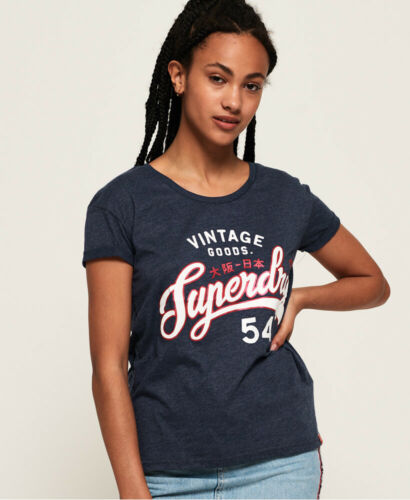 Superdry Womens Vintage Goods Slim Boyfriend T-Shirt