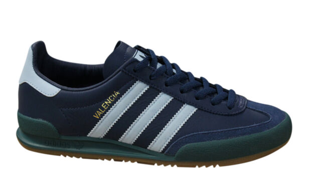 release date: 2ce0e a9cb6 Adidas Originals Jeans City Series Valencia Mens Lace Up Trainers Navy  BB5274 M5
