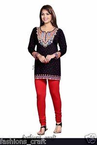 Indian Designer Long Printed Black//Maroon//Red Crepe Silk Kurtis Tunic Top Women