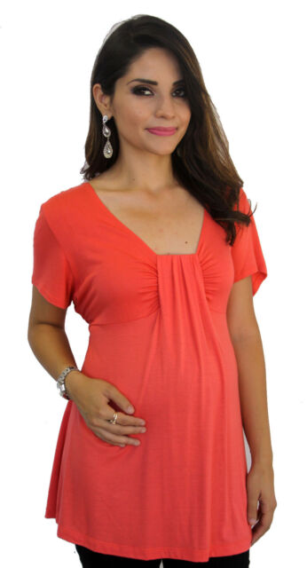 Coral  Maternity Women's Short Sleeve Top S M L XL
