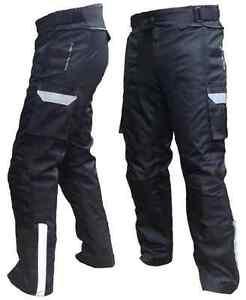Men-039-s-Motorbike-Motorcycle-Cordura-Trousers-Waterproof-Pants-with-Lining