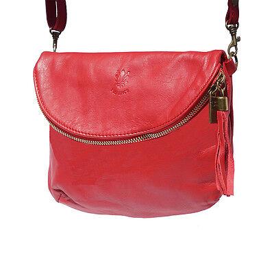 Umhängetaschen , Tasche aus italienischem Leder in Hand in Italien 6120 lr