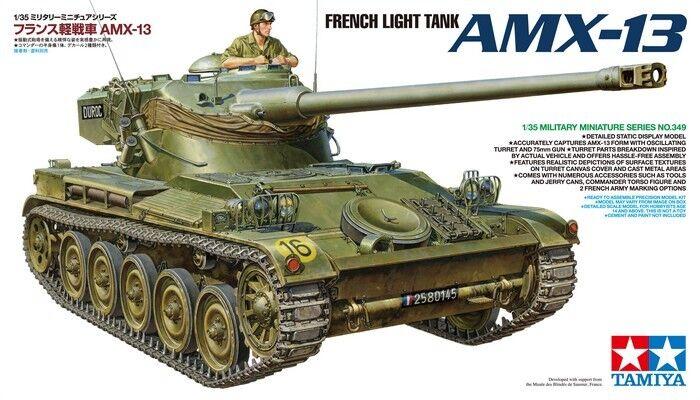 Tamiya 1 35 French Light Tank AMX-13 Model Kit