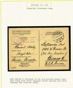 HUNGARY-WWII-POW-MILITARY-INTERNMENT-CAMPS-CENSORED-YLUJ1-11