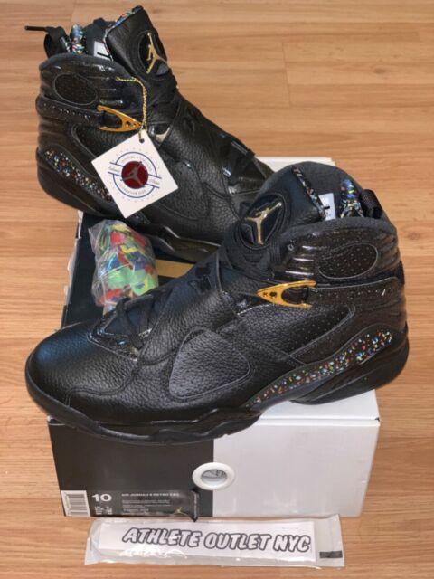 New Nike Air Jordan Retro 8 Confetti Black Men's Size 10 Sneakers 832821-004