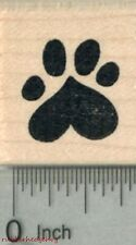 Heart Paw Print Rubber Stamp, Dog, Cat Valentine Series .75 in Wide A29612 WM