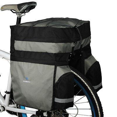 Waterproof 60L Cycling Bicycle Bag Bike Rear Rack Tail Seat Trunk Bag Pannier