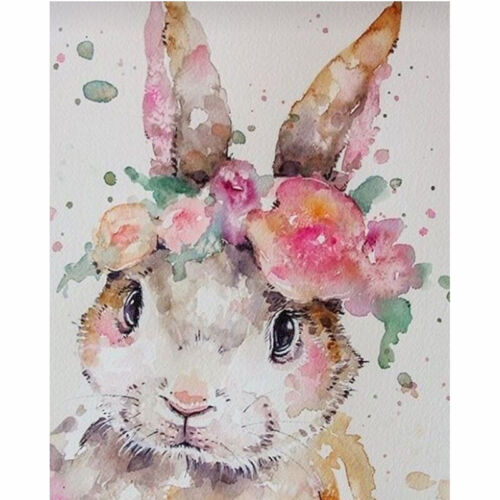 Full Drill Diamond Painting Kit Like Cross Stitch Colourful Rabbit DIY ZY168H