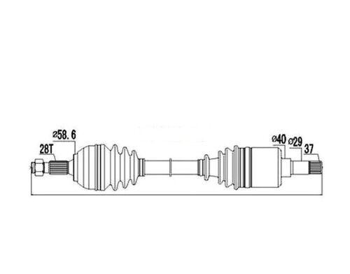 ANRTIEBSWELLE CITROEN JUMPY 2.0HDI 06- PEUGEOT EXPERT 2.0HDI 06- FIAT SCUDO