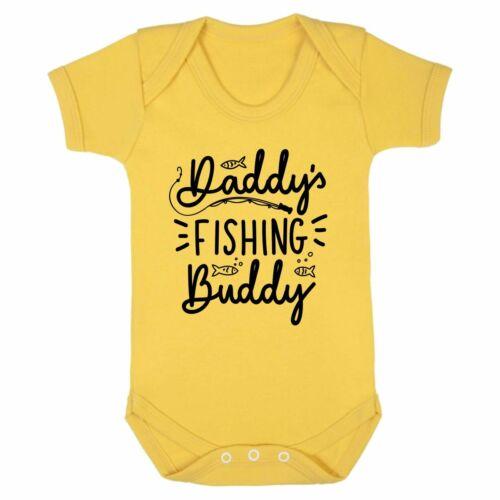 Daddy/'s Fishing Buddy Gift Present Birthday Newborn Vest Dad Fish Baby Grow