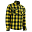 thumbnail 19 - Men Motorcycle Plaid Flannel Lumberjack Shirt Reinforced w/ Protective Lining