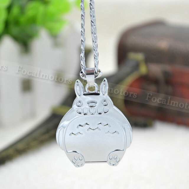 Cute Totoro My Neighbor Totoro Silver Necklace Metal Chain For Anime Fan