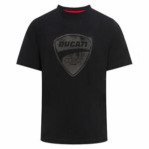 2018 Ducati Corse Team MotoGP Mens Black T-Shirt Large Logo Design 100/% Cotton
