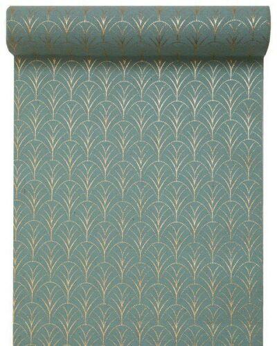 Gold//Gold 28cm x 3M Art Deco table runner Green//Gold Blue//Gold Burgundy//Gold