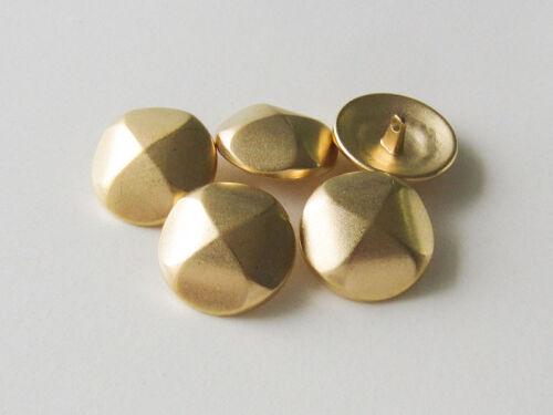 5 sévère Matt goldfb à facettes métal œillets boutons dans vintage optique 2460go