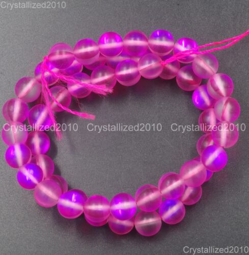 Top Crystal Glass Round Matte Frosted Inside AB Beads 6mm 8mm 10mm 12mm 15.5/""