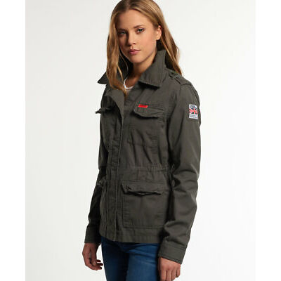 Superdry Mujer Americana Rookie Army Gris