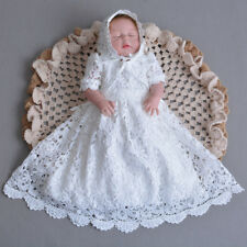 Baby Hollow Lace Baptism Party Gown Embroidery Christening Long Dress with  Cloak d936b98a7