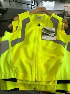 BMW-MOTORCYCLE-FLO-YELLOW-HI-VIZ-REFLECTIVE-WAISTCOAT-MEDIUM-76458547250