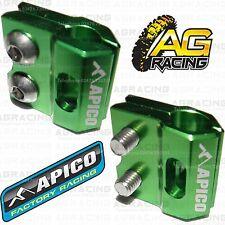Apico Green Brake Hose Brake Line Clamp For Kawasaki KXF 450 2011 Motocross New