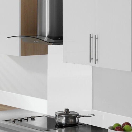 White Glass Splashbacks 750 X 600 COOKER, Top Quality