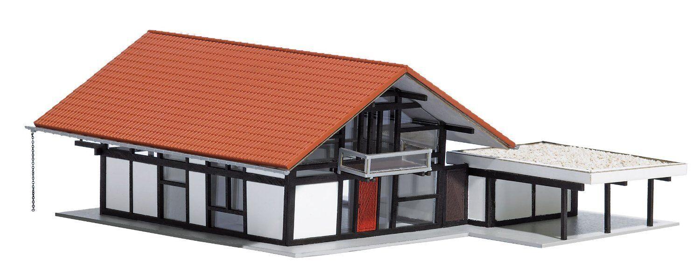 Busch 1446, Huf Maison Brun   red, H0 Maquettes de Monde Kit Construction 1 87