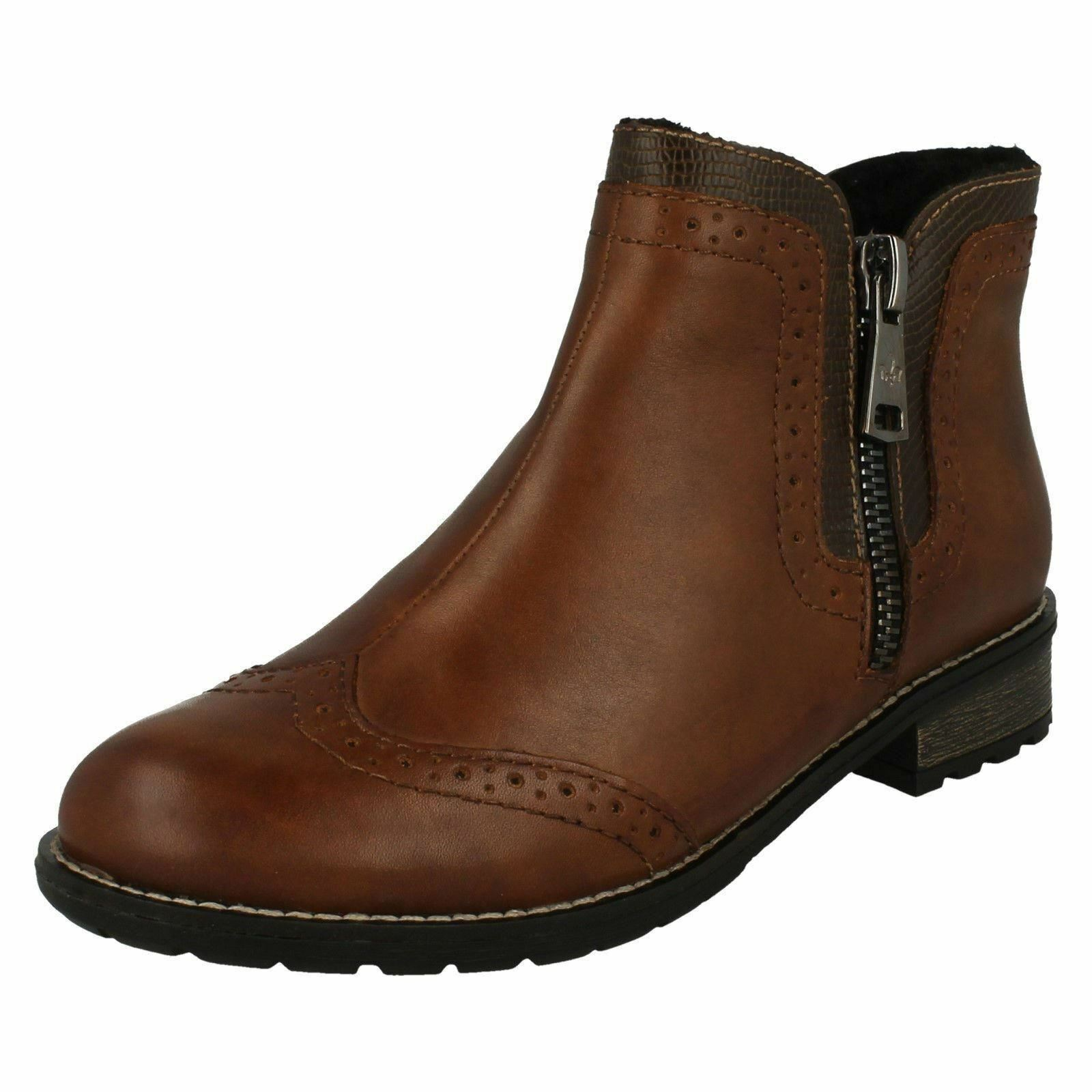women Rieker Y3361 brown ou red red red Décontracté Doublé Chaud Bottines fbaa1b