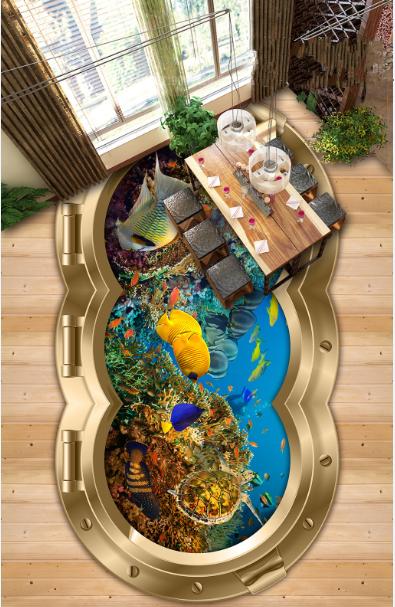 3D Phnom Penh Fish Pond 45 Floor WallPaper Murals Wall Print Decal AJ WALLPAPER