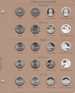 Mint 4 Quarters P /& D from U.S 2010 P D S S Yellowstone Silver /& Clad Proofs